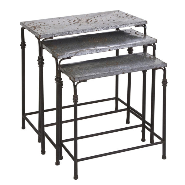 Imax 74232 3 Galvanized Nesting Tables Hope Home