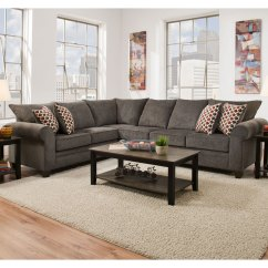 8642 Transitional Sectional Sofa With Chaise By Albany Willow Beds Simmons 1647 Pewter Hope