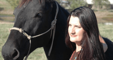 Shelby Rowe and horse
