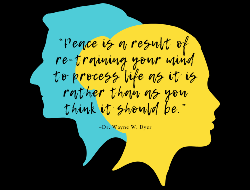 """Peace is a result of re-training your mind to process life as it is rather than as you think it should be."" –Dr. Wayne W. Dyer"