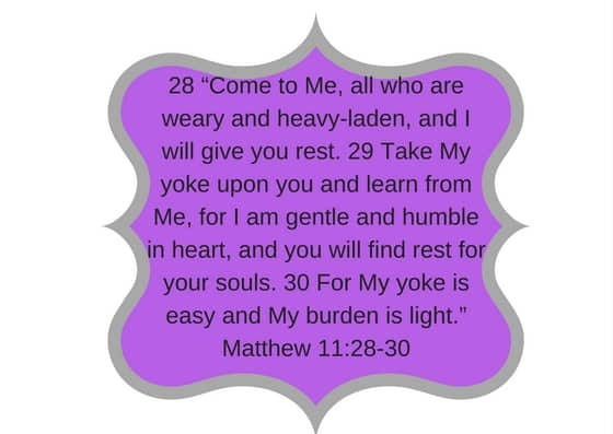 Matthew 11 28 30 come to me all who are weary and heavy-laiden