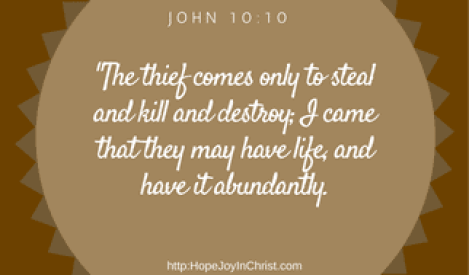 John 10:10 Reclaiming Hope & Joy in our Christian Marriage, Biblical Wifehood comes when we cling to abundant life