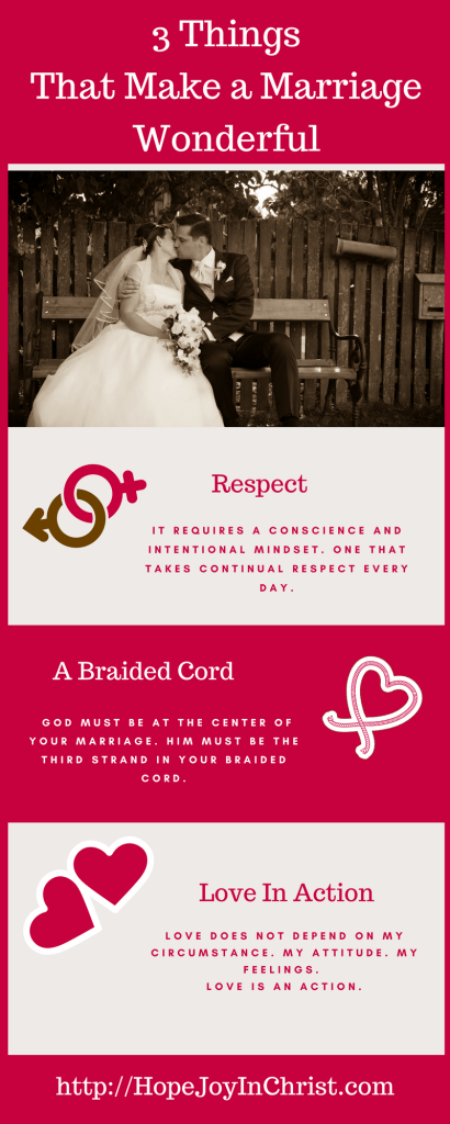 3 Things That Make a Marriage Wonderful PintIt (Christian Marriage Biblical Wifehood (Reclaiming Hope & Joy in your Marriage))