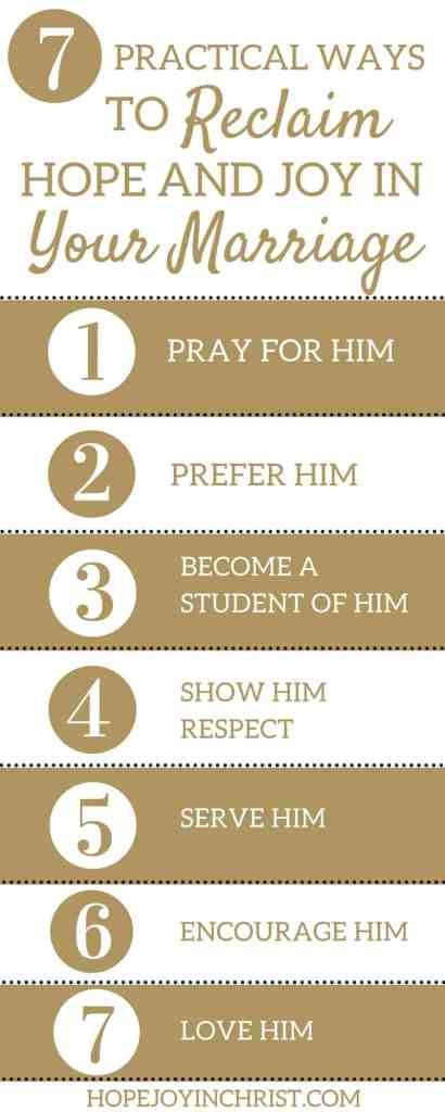 7 Practical Ways to Reclaim Hope and Joy in Your Marriage Like Minded Musings Infographic