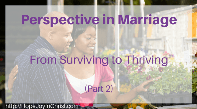 Perspective In Marriage- Surviving to Thriving -Christian marriage, biblical Wifehood, Reclaiming Hope & Joy in your Marriage