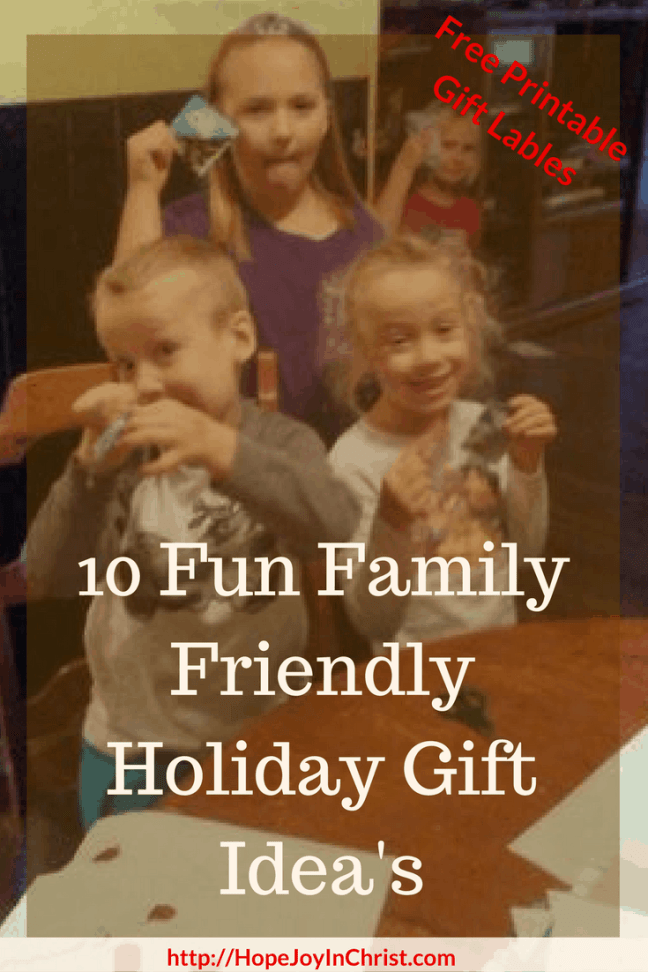 Fun Family Friendly Holiday Gift Idea's (#ChristmasGiftIdeas #FreePrintable)