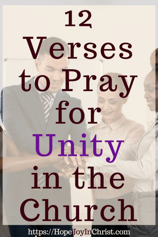 12 Verses to Pray for Unity in the Church PinIt #ChurchUnity #ChurchUnityquotes #ChurchUnityideas #ChurchUnityGod #ChurchUnityVerses #Prayerquotes #PrayerWarrior
