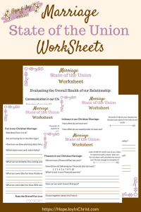 Marriage State of the Union Worksheets PinIt #Marriage #ChristianMarriage #RelationshipTips #MarriageCheckList #MarriageCheckIn #MarraigeCheckInQuestions