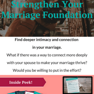Strengthen Your Marriage Foundation eCourse. What if there was a way to connect more deeply with your spouse to make your marriage thrive? God's call to us in marriage is clear throughout Scripture. But so many of us miss out on the joy and intimacy of a thriving marriage. This Course will cover the Foundations that make a Christian Marriage Thrive. #Giveaway #ChristianBooks #BibleStudy #ChristianMarriage #JoyInMarriage