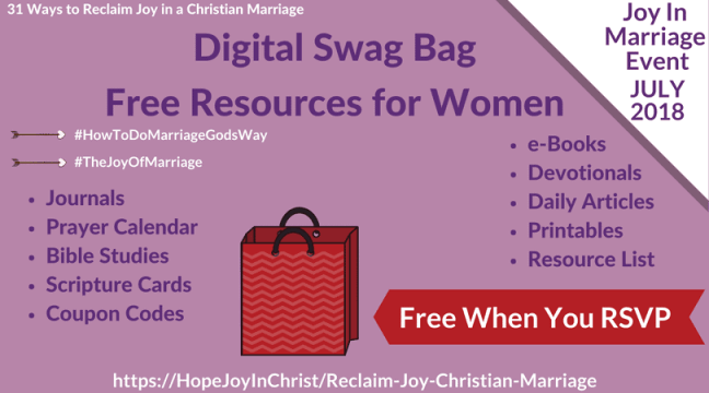 Reclaim joy in a christian marriage giveaway page swag bag marriageevent eventswagbag swagbagforwomen chrisianmarriage joyofmarriage relcaimjoyinmarriage biblicalmarriage fandeluxe Images