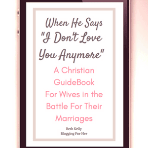 """When He Says I Don't Love you Anymore"""" is a Christian Guidebook written for wives in the battle for their marriages on the brink. It is filled with information, guidance, and hope for wives who find themselves in this hard place. #Giveaway #ChristianBooks #BibleStudy #ChristianMarriage #JoyInMarriage #Marriageadvice #MarriageGodsWay"""