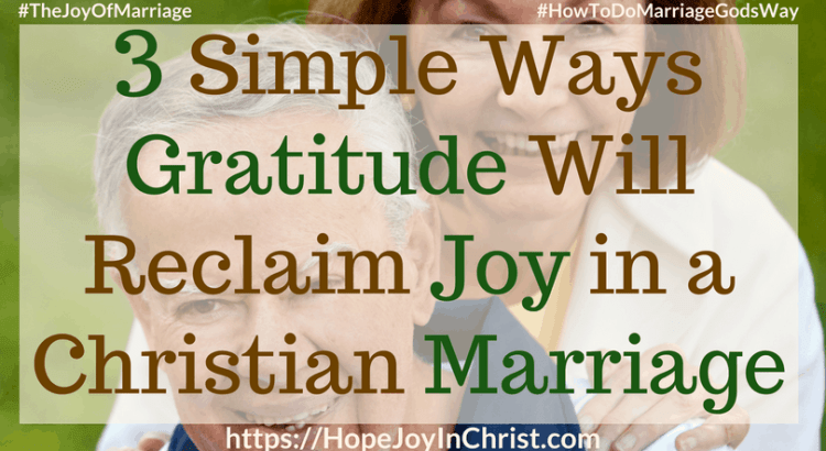 3 Simple Ways Gratitude Will Reclaim Joy in a Christian Marriage Ftimg #Gratitude #Gratitudequotes #Gratitudescripture #attitudeofGratitude 31 Ways to Reclaim Joy in a Christian Marriage #JoyInMarriage #MarriageGodsWay #JoyQuotes #JoyScriptures #ChooseJoy #ChristianMarriage #ChristianMarriagequotes #ChristianMarriageadvice #RelationshipQuotes #marriagegoals #HappyWifeLife #MarriedLife #BiblicalMarriage
