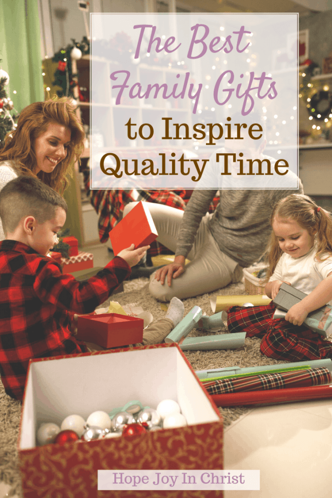 The Best Family Gifts to Inspire Quality Time PinIt What are some good family gifts? What do you give a family member for Christmas? What should I put in a family gift basket? family game basket ideas, family gift set ideas, whole family gift, all family gift, Christmas gifts for family on a budget, family gifts, #Hopejoyinchrist