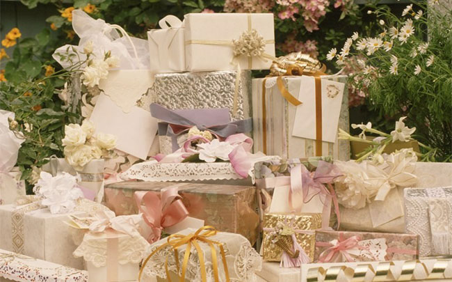 Gift List in wedding programs
