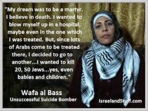 Palestinian Suicidal Woman's Dream To Blow Up Jews!