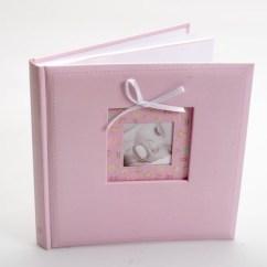αλμπουμ βάπτισης ροζ κουμπάρου