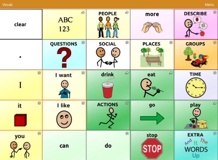 Using Visuals for Expressive Language: High Tech Visuals