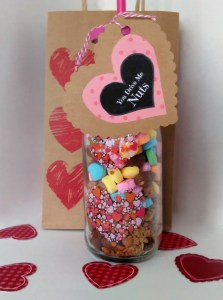 Milk bottle giftbag