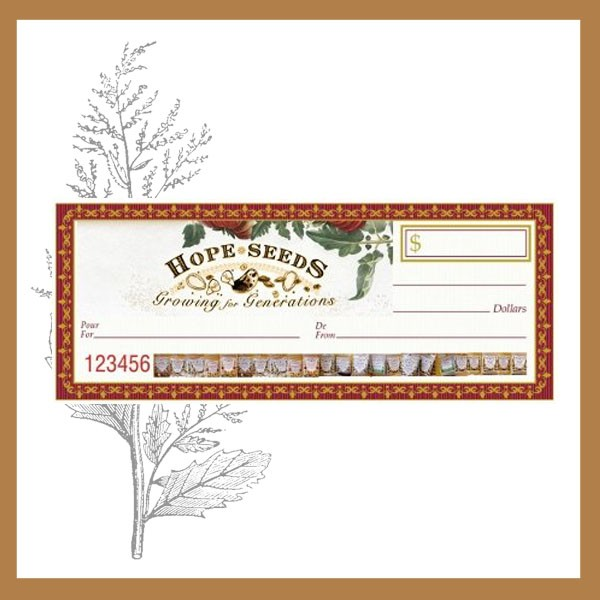 Hope Seeds Gift Certificates