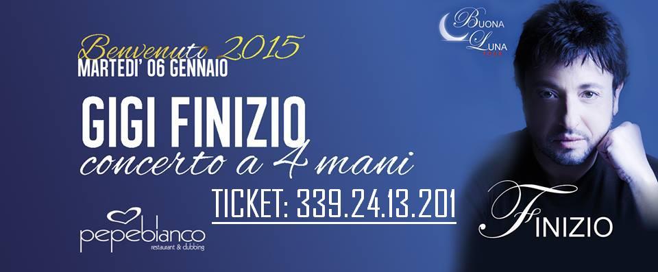 Gigi Finizio in concerto ad Aversa. Il 6 Gennaio 2015 al Pepebianco per sognare con l'epifania. (1/5)