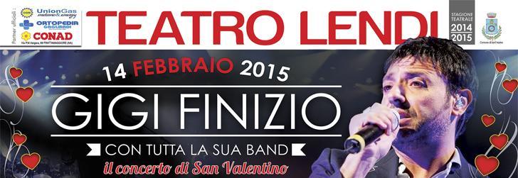 Il concerto dell'anno! Gigi Finizio in concerto a San Valentino 2015 con tutta la Band al Teatro Lendi! (1/4)