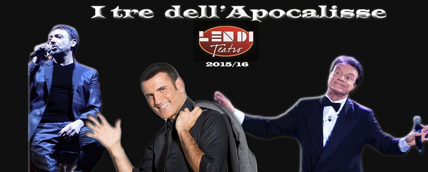 Massimo Ranieri, Gigi Finizio e Sal Da Vinci, i tre dell'apocallise al Teatro Lendi. Con spazio alle risate. (1/5)