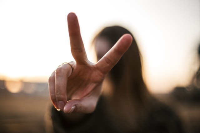 Peace Fingers Sign