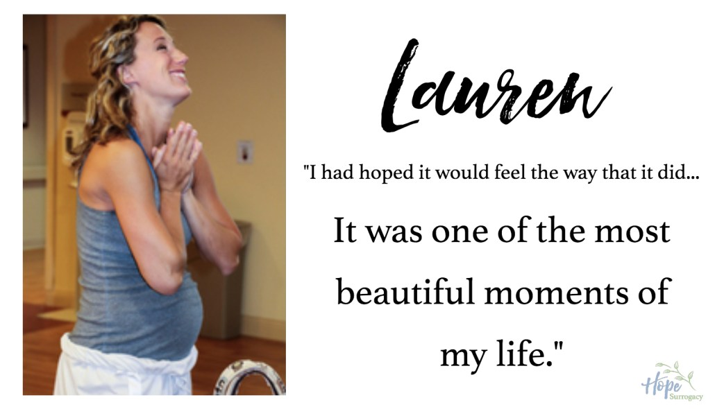Lauren, labor and delivery nurse, mom and surrogate