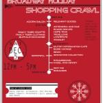poster holiday shopping crawl web