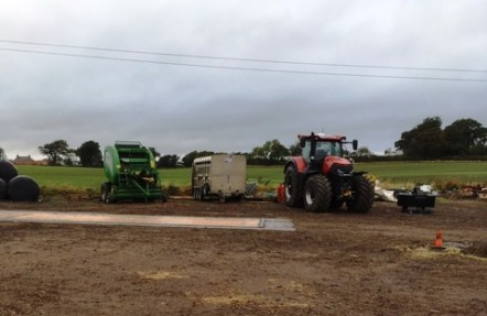 Pupils learnt about the different types of machinery used on the farm