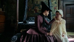 Outlander S2 - Marys Bedchamber at Claire & Jamies Apartment - The White Satin Bedchamber