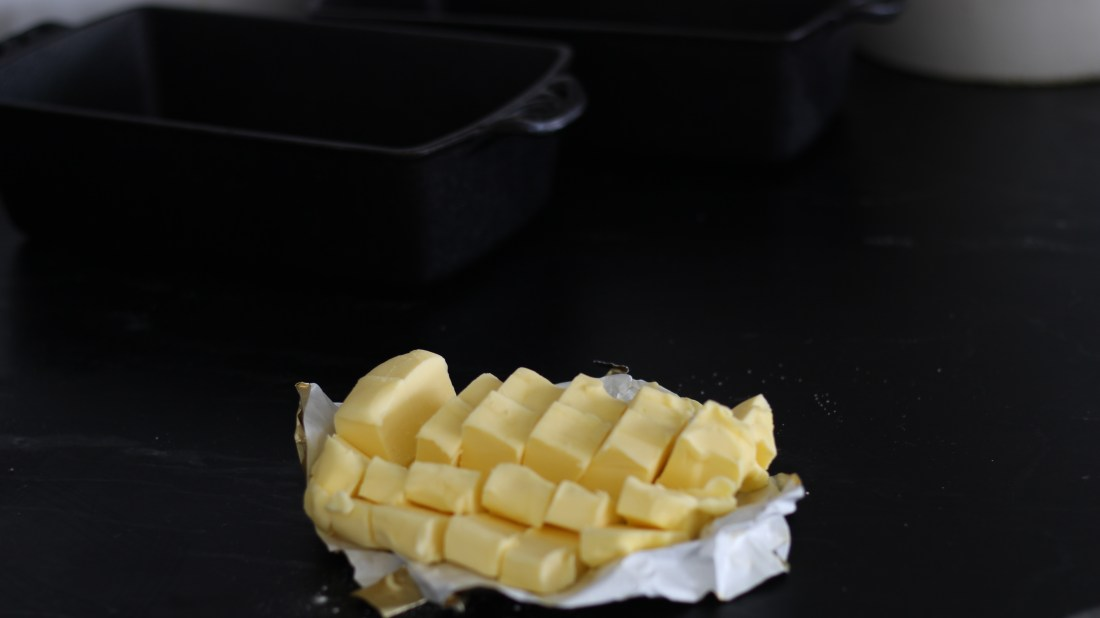 cubed butter for pie crust