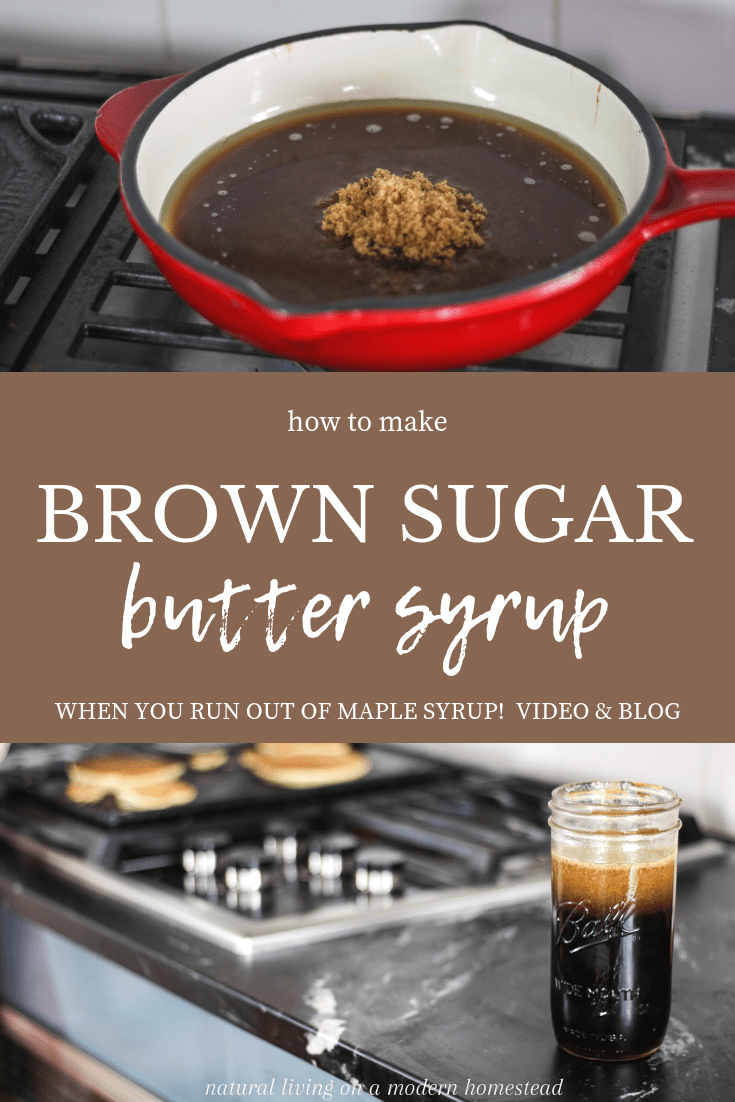 how to make brown sugar butter syrup video and blog recipe