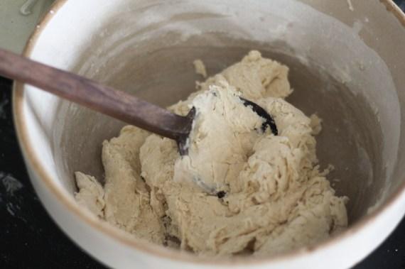 stirring dough