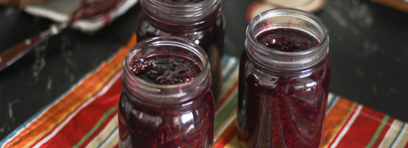 Naturally Sweetened Maple Blackberry Jam