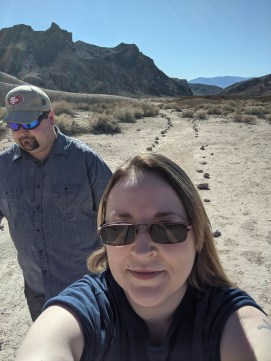 On our hike in the desert of California, near the Nevada border.