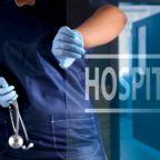 Doctor opening the hospital door