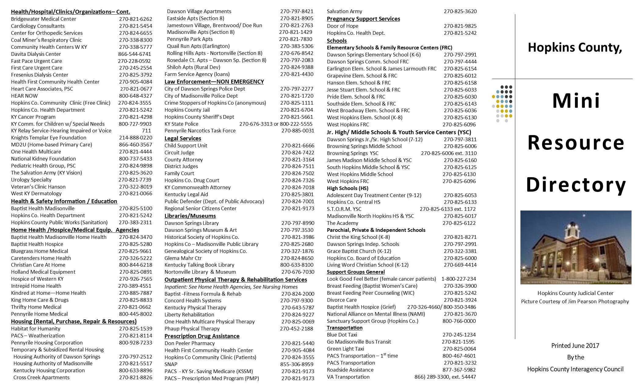 Hopkins County Resource Directory