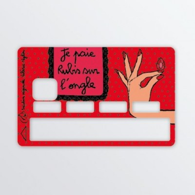 sticker carte bleur rouge
