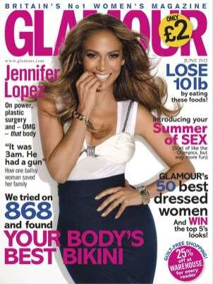 JENNIFER LOPEZ in Glamour Magazine