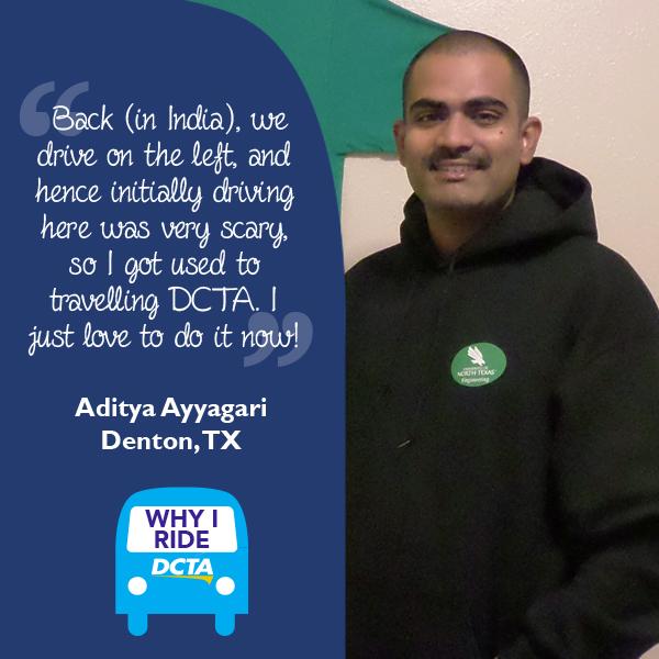 Why I Ride DCTA – Aditya Ayyagari