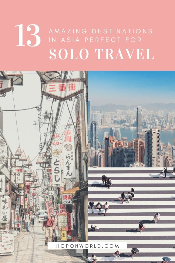 Asia Solo Getaways | Looking for the best destinations in Asia to explore on your own? We set out 13 of the best spots for solo travellers - from bustling cities, gorgeous beaches and serene nature escapes. Find out where to go and what to do, here. #solotravel #asia #travel #travelingalone #asiatravel #sologetaways #southeastasia #asiabucketlist