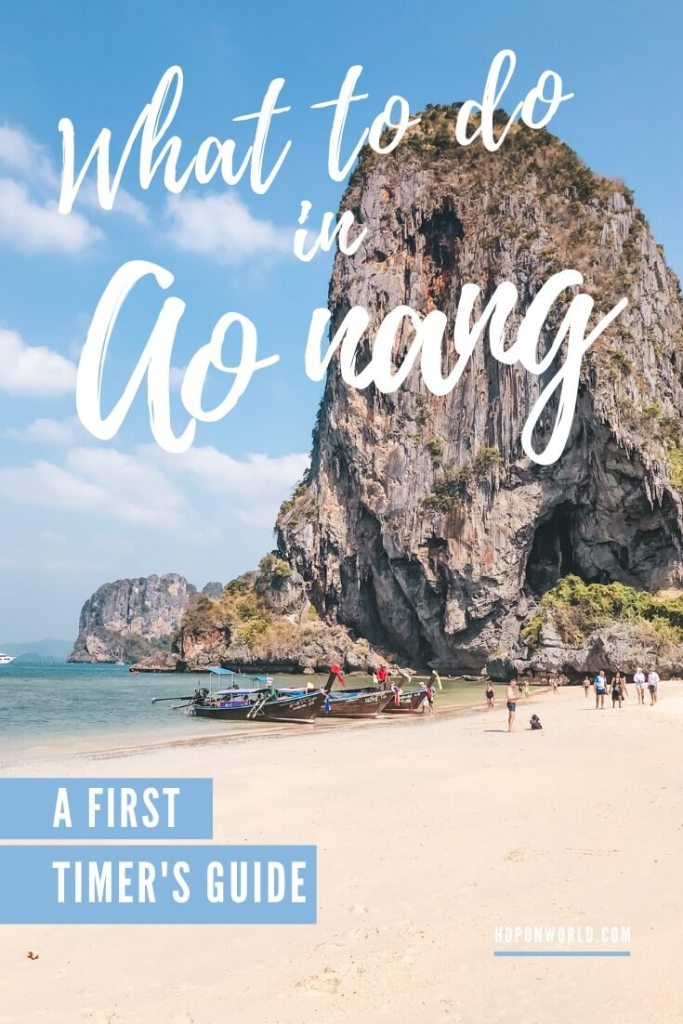 Ao Nang, Krabi packs the perfect mix of outdoor fun and relaxation. This guide sets out all the best things to do in Ao Nang and includes tons of handy tips and tricks to help you plan the perfect Ao Nang itinerary. #aonang #krabi #thailand #AoNangThingsToDo #aonangbeach