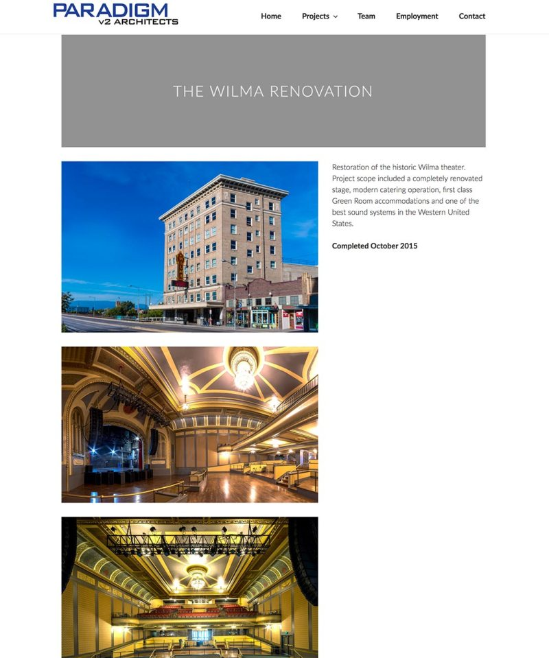 Project page for the Wilma renovation