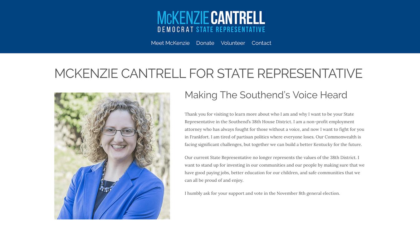 Hoppel Design website for McKenzie Cantrell
