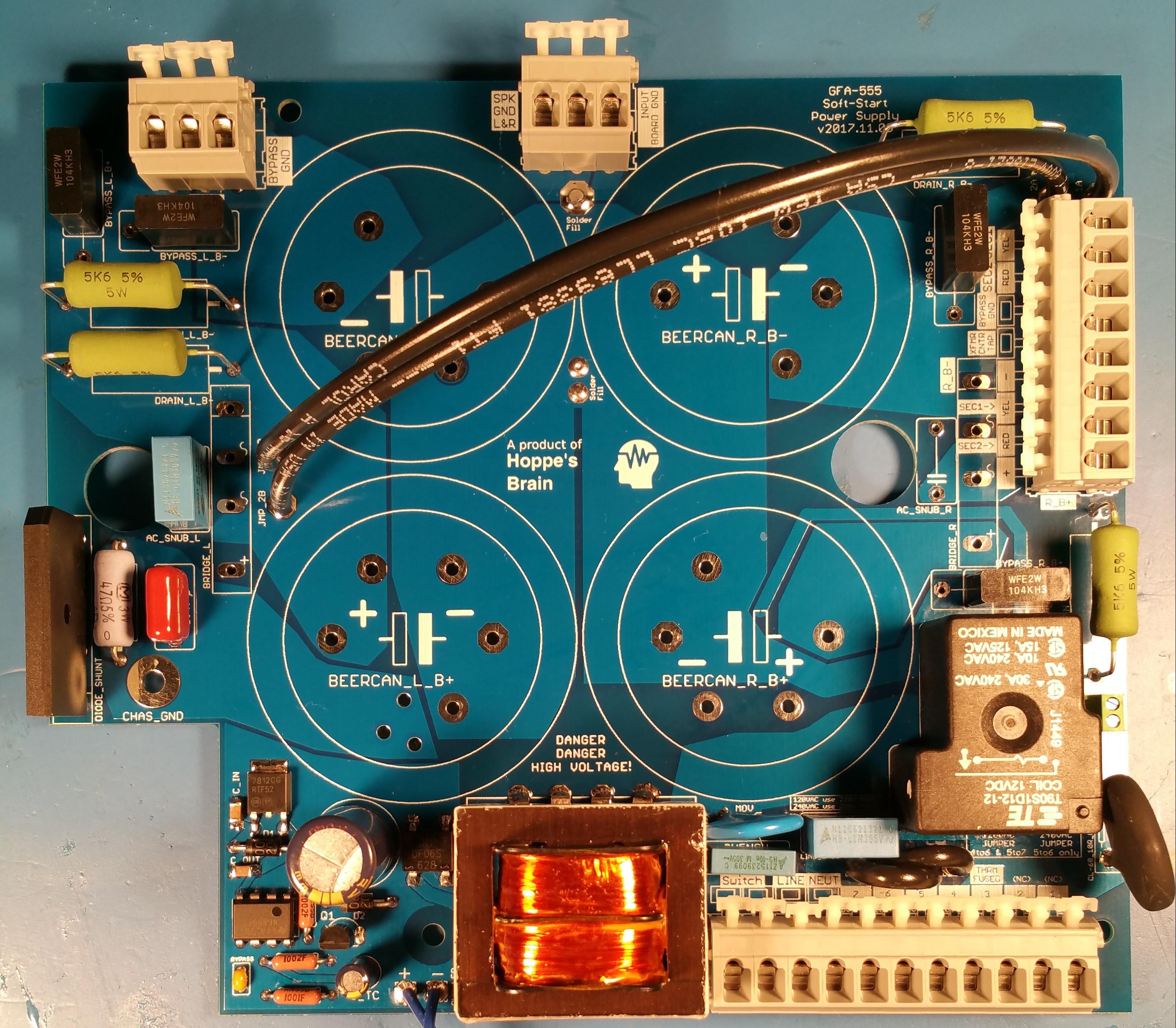 Adcom Gfa 555 Mk1 And Mk2 Soft Start Power Supply Upgrade Kit Isolation Regulated Circuit Of Ne555 Powersupply Available On Backorder