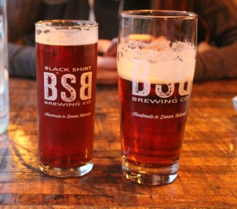 Left: Common Red Kölsch, Right: Blood Orange Double IRA (India Rye Ale)