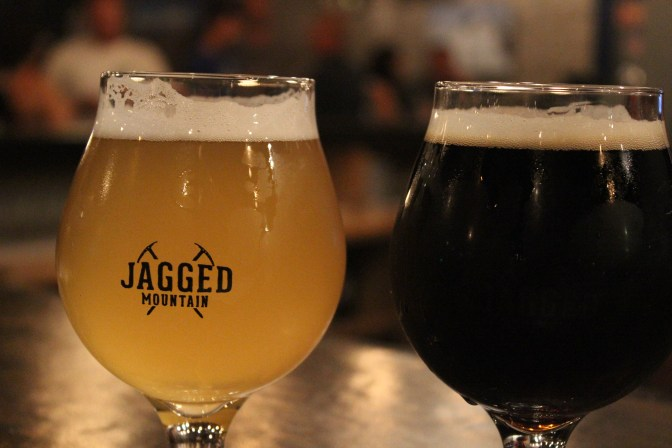 Left: Walk Off Wit - Belgian Wit, Right: Wolfpack - Black Saison