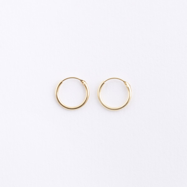 Small Gold Hoop Earrings  HOPSCOTCH