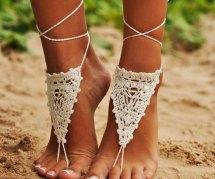 Girl Barefoot Beach Sandals